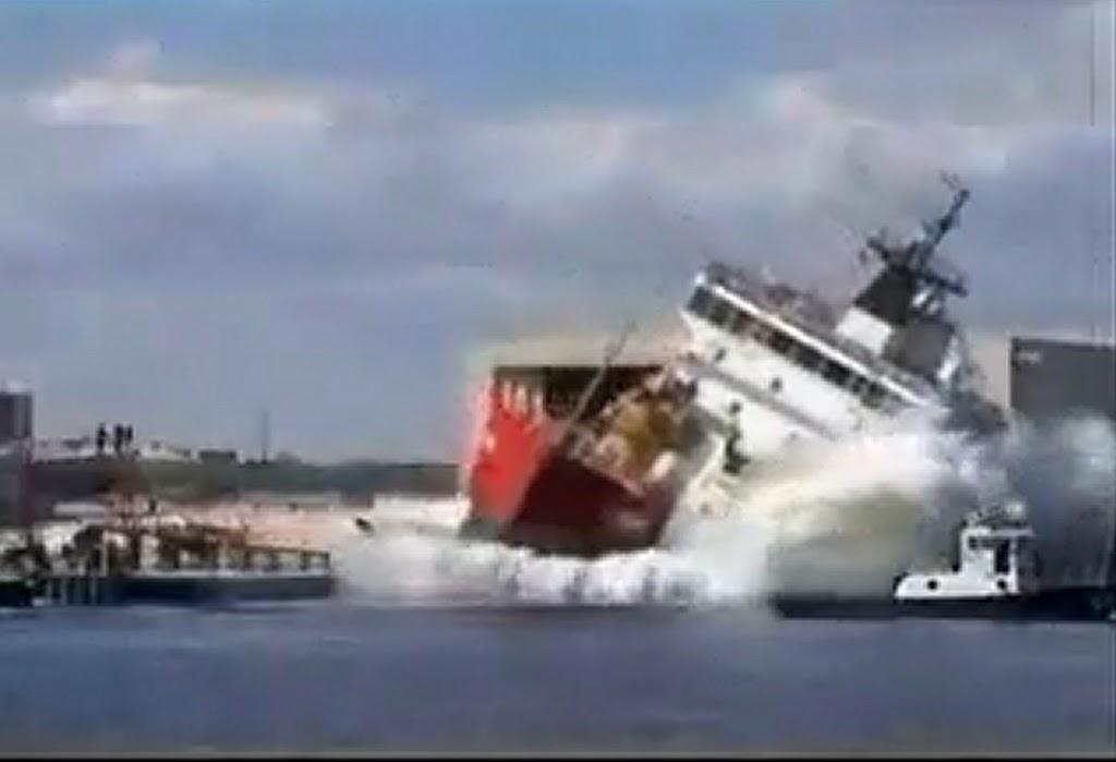 Δείτε εντυπωσιακή καθέλκυση πλοίων [Βίντεο] - e-Nautilia.gr | Το Ελληνικό Portal για την Ναυτιλία. Τελευταία νέα, άρθρα, Οπτικοακουστικό Υλικό