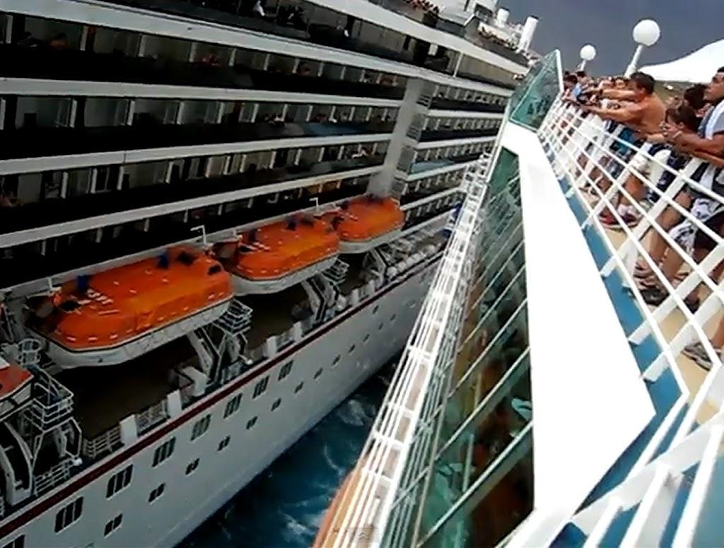 Σύγκρουση κρουαζιερόπλοιων της Carnival και της Royal Caribbean στο λιμάνι [vid] - e-Nautilia.gr | Το Ελληνικό Portal για την Ναυτιλία. Τελευταία νέα, άρθρα, Οπτικοακουστικό Υλικό
