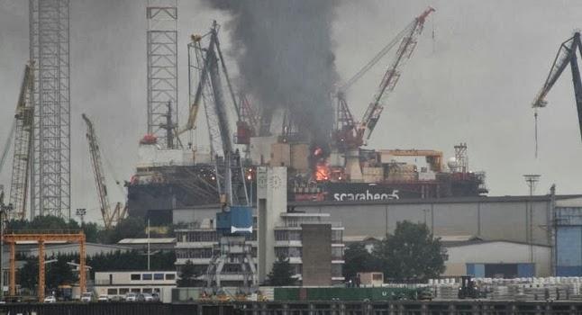 Φωτιά στο γεωτρύπανο Scarabeo 5 [βίντεο] - e-Nautilia.gr | Το Ελληνικό Portal για την Ναυτιλία. Τελευταία νέα, άρθρα, Οπτικοακουστικό Υλικό
