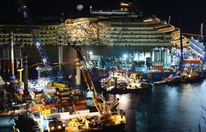 Ορθιο το Costa Concordia – Δείτε την ανέλκυση σε 30 δευτερόλεπτα [βίντεο] - e-Nautilia.gr | Το Ελληνικό Portal για την Ναυτιλία. Τελευταία νέα, άρθρα, Οπτικοακουστικό Υλικό