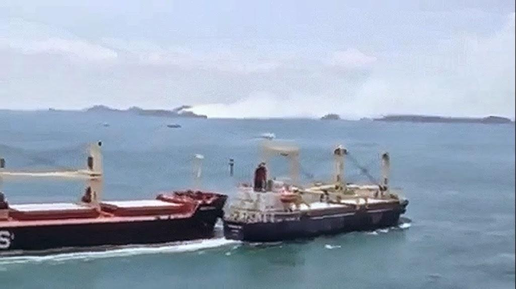 Σύγκρουση φορτηγών πλοίων στη Σιγκαπούρη [video] - e-Nautilia.gr | Το Ελληνικό Portal για την Ναυτιλία. Τελευταία νέα, άρθρα, Οπτικοακουστικό Υλικό