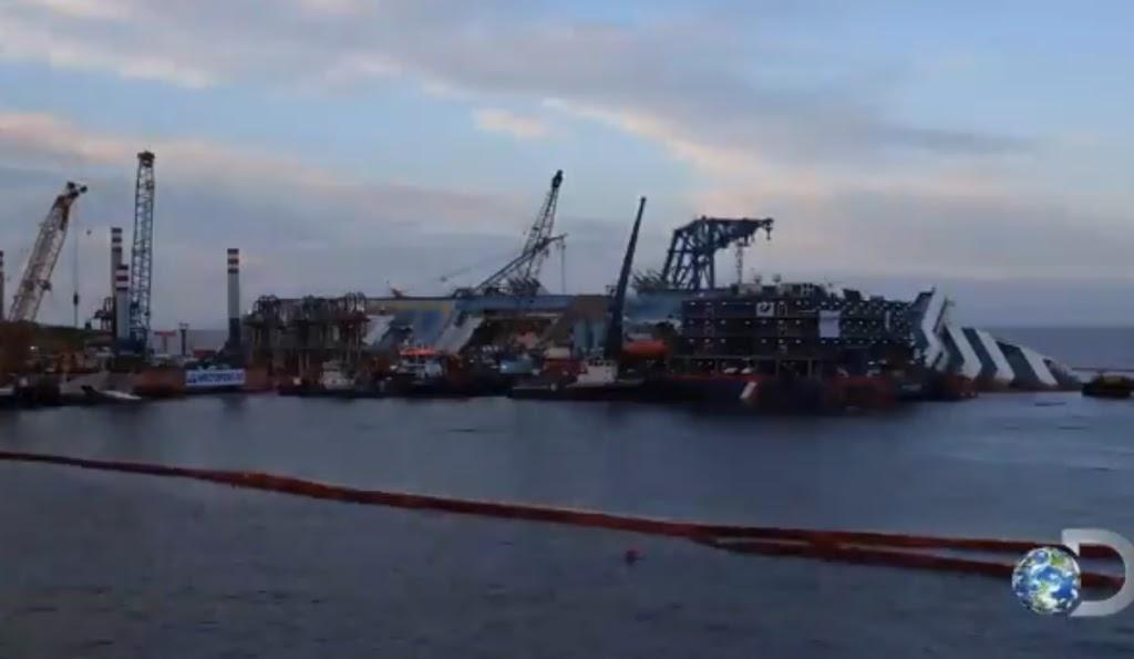 Δείτε την ανέλκυση του Costa Concordia από μια διαφορετική γωνία [βίντεο] - e-Nautilia.gr | Το Ελληνικό Portal για την Ναυτιλία. Τελευταία νέα, άρθρα, Οπτικοακουστικό Υλικό