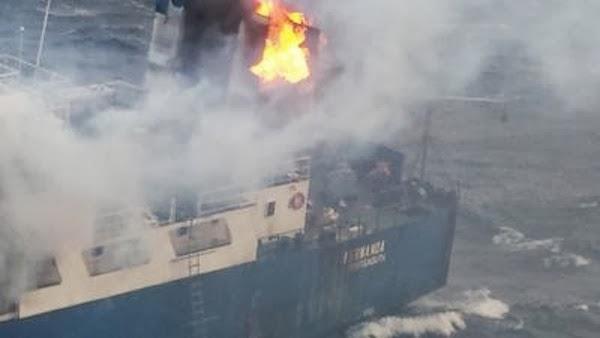 Πυρκαγιά ξέσπασε σε πλοίο Ro/Ro! [φωτο] - e-Nautilia.gr | Το Ελληνικό Portal για την Ναυτιλία. Τελευταία νέα, άρθρα, Οπτικοακουστικό Υλικό