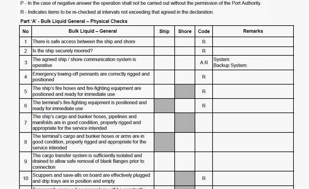 Οδηγίες για την συμπλήρωση του Ship/Shore Safety Check-List [PDF] - e-Nautilia.gr | Το Ελληνικό Portal για την Ναυτιλία. Τελευταία νέα, άρθρα, Οπτικοακουστικό Υλικό