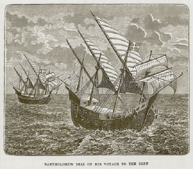 Bartholomew Diaz on his Voyage to the Cape