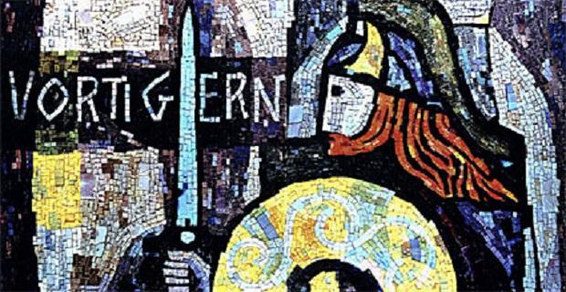 Ο μυθικός άγγλος πολέμαρχος Vortingern που έδωσε το όνομα του στο πλοίο, σε ψηφιδωτό που στόλιζε το σαλόνι του Μήλος Express
