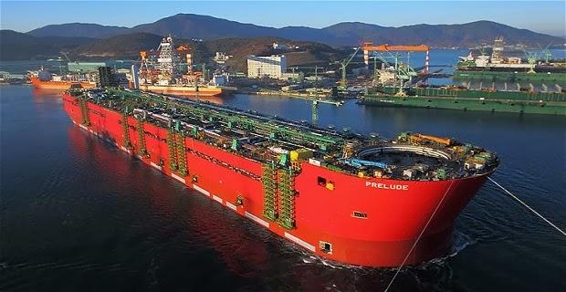 Καθελκύστηκε η μεγαλύτερη πλωτή εξέδρα εξόρυξης φυσικού αερίου (Video) - e-Nautilia.gr | Το Ελληνικό Portal για την Ναυτιλία. Τελευταία νέα, άρθρα, Οπτικοακουστικό Υλικό