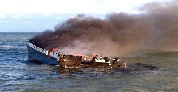 Διασώθηκαν από φλεγόμενο σκάφος [video+pics] - e-Nautilia.gr | Το Ελληνικό Portal για την Ναυτιλία. Τελευταία νέα, άρθρα, Οπτικοακουστικό Υλικό