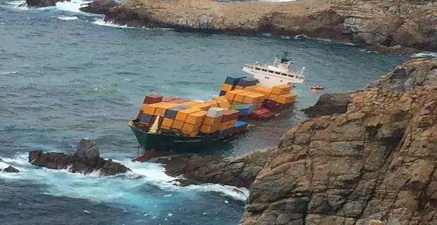 Μετά τη βελτίωση του καιρού η απομάκρυνση του τουρκικού container[pics+vid] - e-Nautilia.gr | Το Ελληνικό Portal για την Ναυτιλία. Τελευταία νέα, άρθρα, Οπτικοακουστικό Υλικό