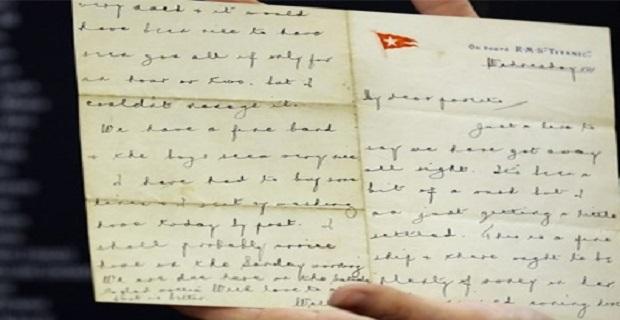 Τιτανικός: Σε δημοπρασία επιστολή που συντάχθηκε πριν το ναυάγιο - e-Nautilia.gr | Το Ελληνικό Portal για την Ναυτιλία. Τελευταία νέα, άρθρα, Οπτικοακουστικό Υλικό