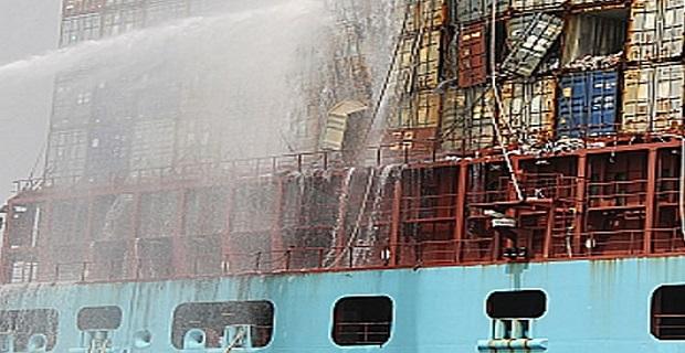 Η κατάρρευση των κοντέινερ προκάλεσε την πυρκαγιά στο Eugen Maersk - e-Nautilia.gr   Το Ελληνικό Portal για την Ναυτιλία. Τελευταία νέα, άρθρα, Οπτικοακουστικό Υλικό