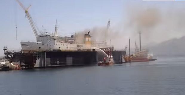 Πυρκαγιά σε ιταλικό πλοίο [video] - e-Nautilia.gr | Το Ελληνικό Portal για την Ναυτιλία. Τελευταία νέα, άρθρα, Οπτικοακουστικό Υλικό