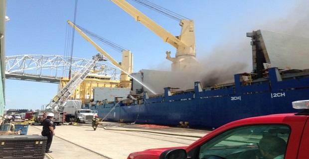 Μάχη με τις φλόγες σε πλοίο στο Κόρπους Κρίστι [vid+pics] - e-Nautilia.gr | Το Ελληνικό Portal για την Ναυτιλία. Τελευταία νέα, άρθρα, Οπτικοακουστικό Υλικό