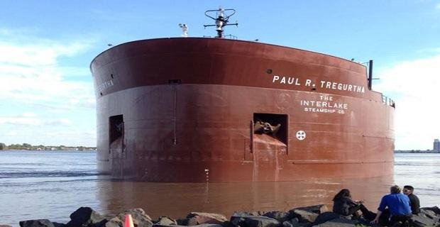 Προσάραξε το τεράστιο και διάσημο φορτηγό πλοίο «Paul R. Tregurtha» [video+pics] - e-Nautilia.gr | Το Ελληνικό Portal για την Ναυτιλία. Τελευταία νέα, άρθρα, Οπτικοακουστικό Υλικό