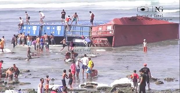Προσάραξη πλοίου και απώλεια των κοντέινερ που μετέφερε [video] - e-Nautilia.gr | Το Ελληνικό Portal για την Ναυτιλία. Τελευταία νέα, άρθρα, Οπτικοακουστικό Υλικό