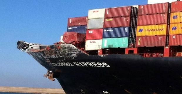 Φωτογραφίες από την σύγκρουση των πλοίων στο Σουέζ - e-Nautilia.gr | Το Ελληνικό Portal για την Ναυτιλία. Τελευταία νέα, άρθρα, Οπτικοακουστικό Υλικό