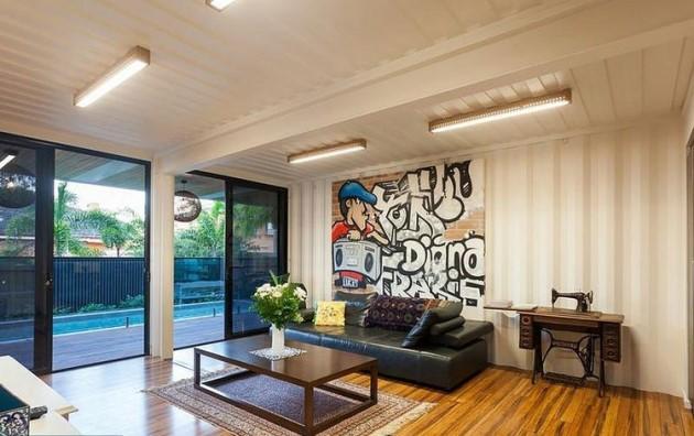 Ένα μικρό καθιστικό είναι ο ιδανικός χώρος ακόμα και για γκράφιτι!