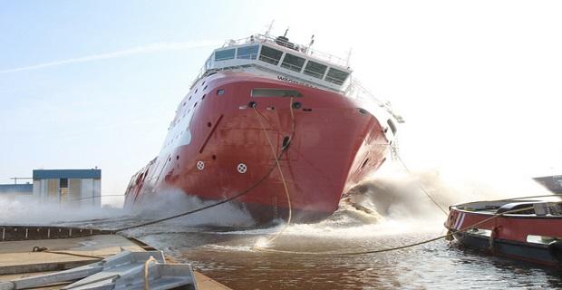Καθέλκυση του πρώτου πλοίου Walk-to-Work [video+pics] - e-Nautilia.gr | Το Ελληνικό Portal για την Ναυτιλία. Τελευταία νέα, άρθρα, Οπτικοακουστικό Υλικό