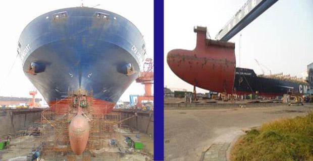"""Επανασχεδίαση της """"μπάλας"""" των πλοίων με σκοπό την μείωση στην κατανάλωση καυσίμων [pics] - e-Nautilia.gr   Το Ελληνικό Portal για την Ναυτιλία. Τελευταία νέα, άρθρα, Οπτικοακουστικό Υλικό"""