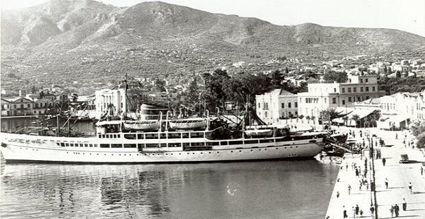 Στη Μυτιλήνη, λίγο πριν τον πόλεμο. Και τότε τρία καράβια τη βδομάδα είχε