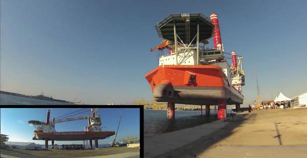 Εντυπωσιακό βίντεο την στιγμή της ανύψωσης πλωτής πλατφόρμας [video] - e-Nautilia.gr | Το Ελληνικό Portal για την Ναυτιλία. Τελευταία νέα, άρθρα, Οπτικοακουστικό Υλικό