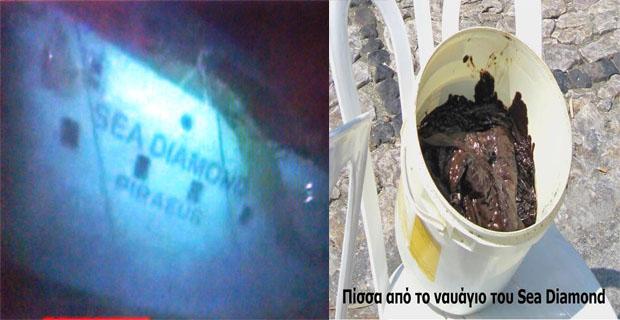 Το ναυάγιο του Sea Diamond συνεχίζει να απειλεί και να ρυπαίνει τη Σαντορίνη - e-Nautilia.gr | Το Ελληνικό Portal για την Ναυτιλία. Τελευταία νέα, άρθρα, Οπτικοακουστικό Υλικό