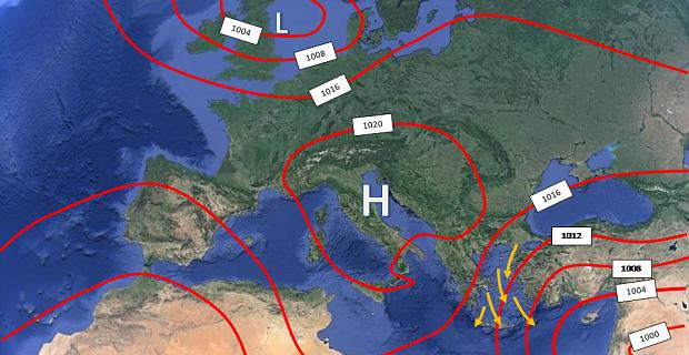 Το μελτέμι του Αιγαίου: Ιστορική αναδρομή, αιτία δημιουργίας, ένταση και εποχή εμφάνισης του