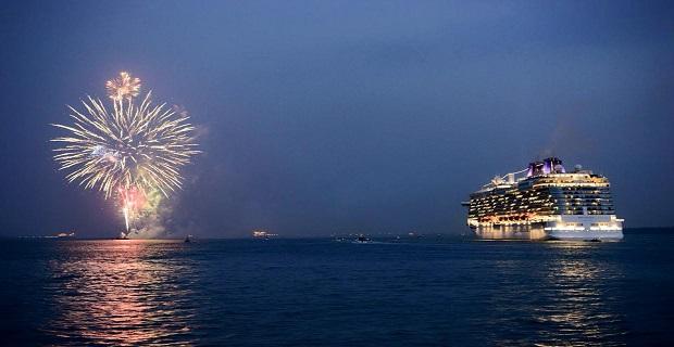 Το κρουαζιερόπλοιο Britannia στο παρθενικό του ταξίδι - e-Nautilia.gr | Το Ελληνικό Portal για την Ναυτιλία. Τελευταία νέα, άρθρα, Οπτικοακουστικό Υλικό