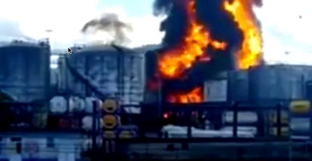 4η μέρα πυρκαγιάς σε δεξαμενές καυσίμων στο Σάντος της Βραζιλίας - e-Nautilia.gr | Το Ελληνικό Portal για την Ναυτιλία. Τελευταία νέα, άρθρα, Οπτικοακουστικό Υλικό