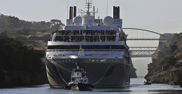 Εντυπωσιακή διέλευση κρουαζιερόπλοιου από τον Ισθμό της Κορίνθου (Photos) - e-Nautilia.gr | Το Ελληνικό Portal για την Ναυτιλία. Τελευταία νέα, άρθρα, Οπτικοακουστικό Υλικό