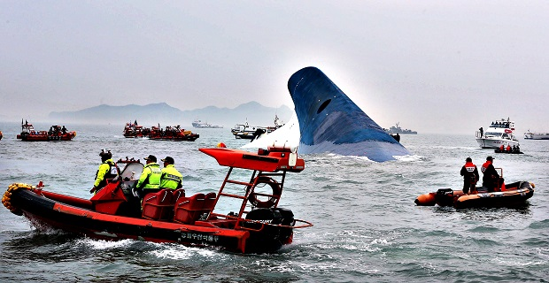 Ferry sinking off South Korea with 450 people on board...epa0416