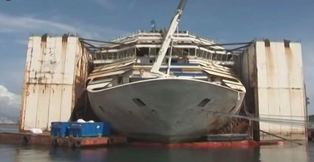 Το Costa Concordia έτοιμο για το τελευταίο του ταξίδι - e-Nautilia.gr | Το Ελληνικό Portal για την Ναυτιλία. Τελευταία νέα, άρθρα, Οπτικοακουστικό Υλικό