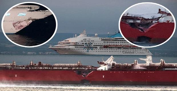 Σύγκρουση του Celestyal Crystal με tanker στα Δαρδανέλια[vid+pics] - e-Nautilia.gr | Το Ελληνικό Portal για την Ναυτιλία. Τελευταία νέα, άρθρα, Οπτικοακουστικό Υλικό