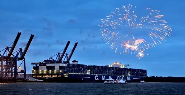 Η CMA CGM Group βάφτισε το μεγαλύτερο πλοίο της [pics] - e-Nautilia.gr | Το Ελληνικό Portal για την Ναυτιλία. Τελευταία νέα, άρθρα, Οπτικοακουστικό Υλικό