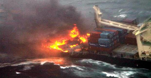 Πυρκαγιά σε containership [vid+pics] - e-Nautilia.gr | Το Ελληνικό Portal για την Ναυτιλία. Τελευταία νέα, άρθρα, Οπτικοακουστικό Υλικό