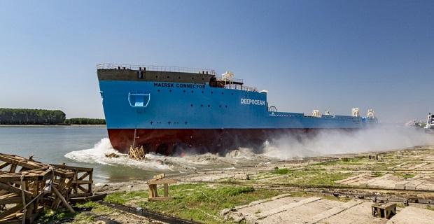 Η καθέλκυση του Maersk Connector[video] - e-Nautilia.gr   Το Ελληνικό Portal για την Ναυτιλία. Τελευταία νέα, άρθρα, Οπτικοακουστικό Υλικό