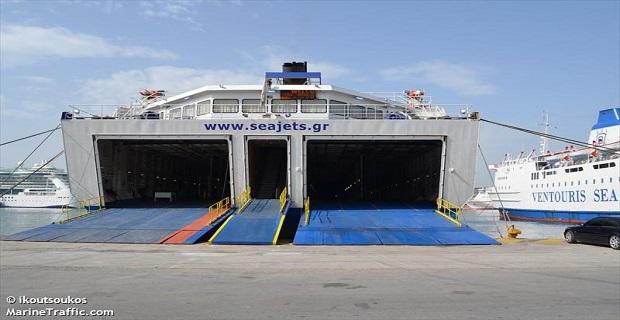 Βλάβη στον καταπέλτη του «Tera Jet» - e-Nautilia.gr | Το Ελληνικό Portal για την Ναυτιλία. Τελευταία νέα, άρθρα, Οπτικοακουστικό Υλικό