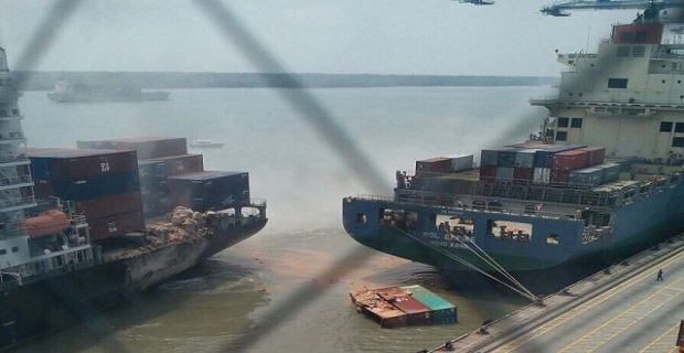 Δυο containerships συγκρούστηκαν στη Μαλαισία - e-Nautilia.gr | Το Ελληνικό Portal για την Ναυτιλία. Τελευταία νέα, άρθρα, Οπτικοακουστικό Υλικό