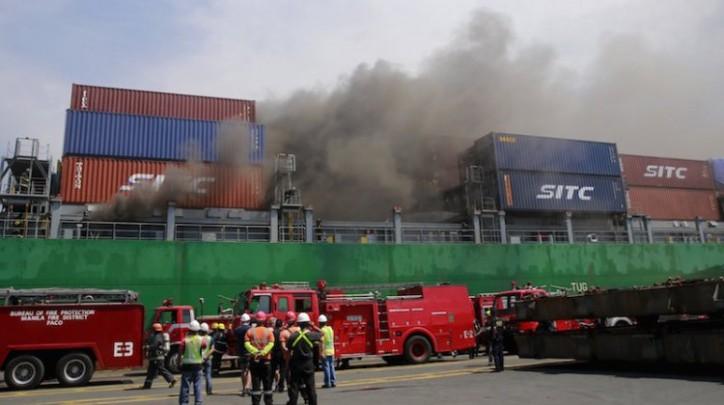 Πυρκαγιά σε containership [pics] - e-Nautilia.gr | Το Ελληνικό Portal για την Ναυτιλία. Τελευταία νέα, άρθρα, Οπτικοακουστικό Υλικό