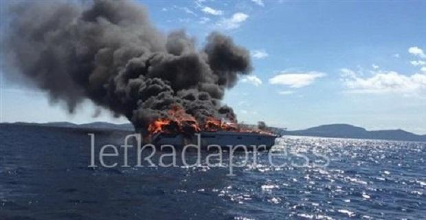 Βυθίστηκε θαλαμηγός λόγω πυρκαγιάς ανοιχτά της Λευκάδας - e-Nautilia.gr | Το Ελληνικό Portal για την Ναυτιλία. Τελευταία νέα, άρθρα, Οπτικοακουστικό Υλικό