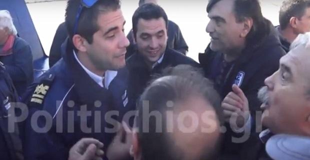 Ένταση στο λιμάνι της Χίου όταν έφτασε πλοίο της γραμμής εν μέσω της απεργίας [video] - e-Nautilia.gr | Το Ελληνικό Portal για την Ναυτιλία. Τελευταία νέα, άρθρα, Οπτικοακουστικό Υλικό