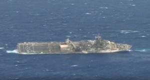 Η βύθιση του USS Ogden από πυραύλους στην άσκηση RIMPAC 2014 (video)