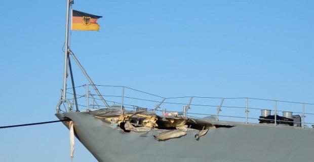 Σύγκρουση Γερμανικού πολεμικού πλοίου με το υπό σημαία Κύπρου κοντέινερ Nordic Bremen [βίντεο+φωτο] - e-Nautilia.gr | Το Ελληνικό Portal για την Ναυτιλία. Τελευταία νέα, άρθρα, Οπτικοακουστικό Υλικό