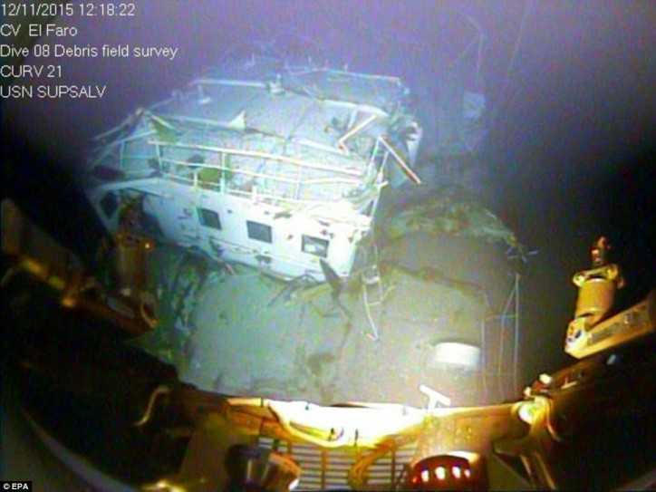 Οι πρώτες εικόνες από το βυθισμένο πλοίο container El Faro [βίντεο+φωτο] - e-Nautilia.gr | Το Ελληνικό Portal για την Ναυτιλία. Τελευταία νέα, άρθρα, Οπτικοακουστικό Υλικό