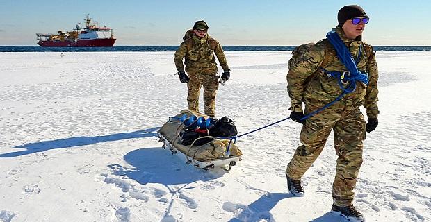 HMS Protector Antarctic visit