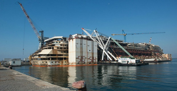 Ξεκίνησε η αφαίρεση των πλωτήρων από το Costa Concordia (photos) - e-Nautilia.gr | Το Ελληνικό Portal για την Ναυτιλία. Τελευταία νέα, άρθρα, Οπτικοακουστικό Υλικό