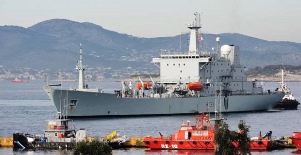 Το Βρετανικό ωκεανογραφικό HMS Scott H131 στο λιμάνι του Πειραιά[βίντεο] - e-Nautilia.gr | Το Ελληνικό Portal για την Ναυτιλία. Τελευταία νέα, άρθρα, Οπτικοακουστικό Υλικό