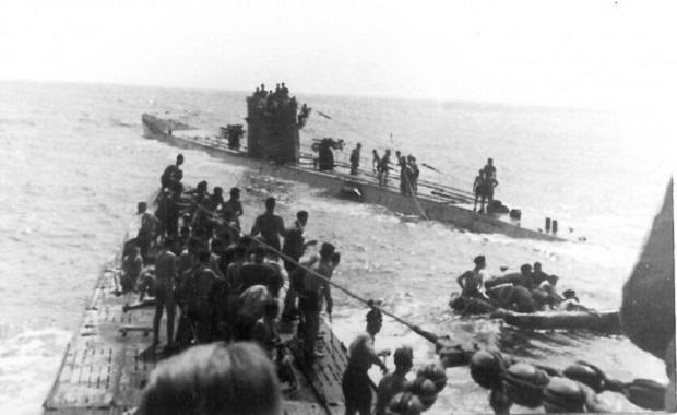 Η διάσωση των ναυαγών από το γερμανικό υποβρύχιο