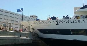 Πλοίο προσπάθησε να δέσει στην Καλιφόρνια κι έπεσε στην προβλήτα! (video)