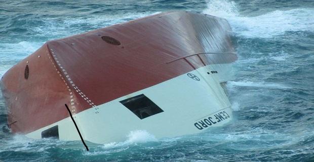 Upturned hull of Cemfjord taken from HRossy